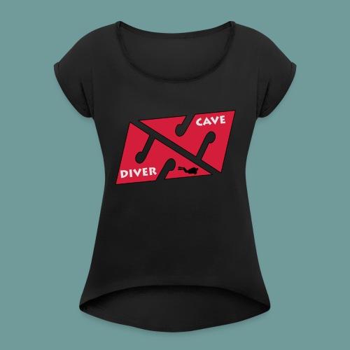 cave_diver_01 - T-shirt à manches retroussées Femme