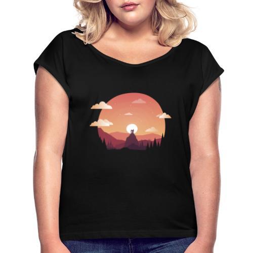 Monte Sagrado - Camiseta con manga enrollada mujer