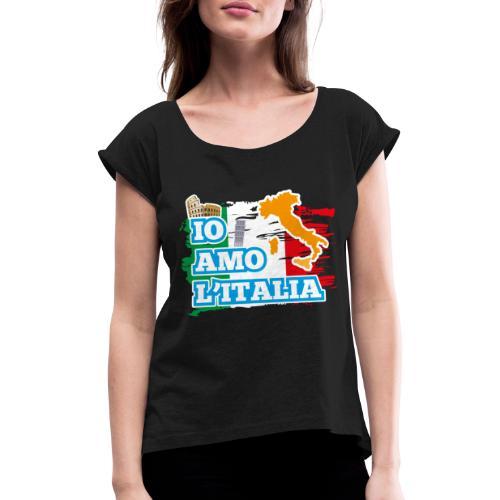 ITALY - Io Amo L'Italia - Maglietta da donna con risvolti