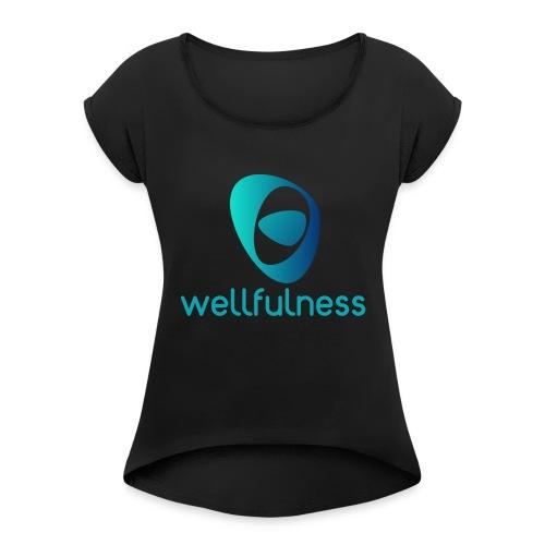 Wellfulness Sport Clasic - Camiseta con manga enrollada mujer