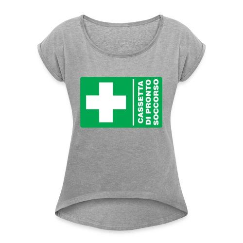cartello png - Maglietta da donna con risvolti