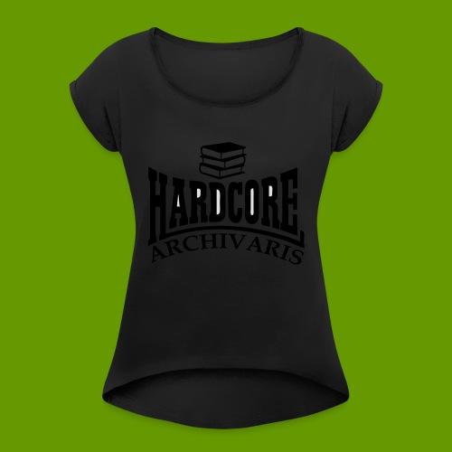 voorkant1 - Vrouwen T-shirt met opgerolde mouwen