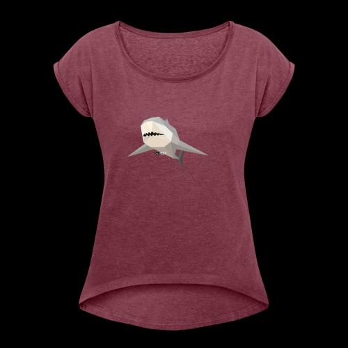 SHARK COLLECTION - Maglietta da donna con risvolti