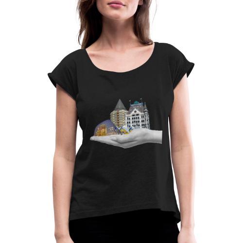 Blaak - Vrouwen T-shirt met opgerolde mouwen