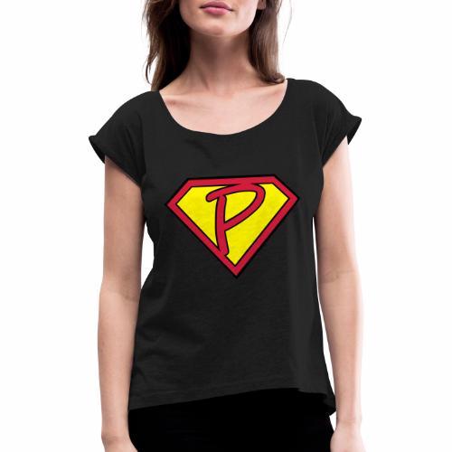 superp 2 - Frauen T-Shirt mit gerollten Ärmeln