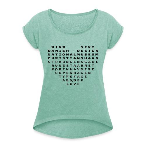 Copenhagen Heart - Dame T-shirt med rulleærmer