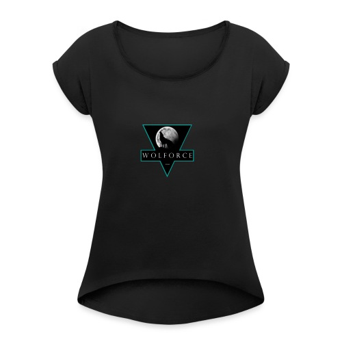WOLFORCE - Camiseta con manga enrollada mujer