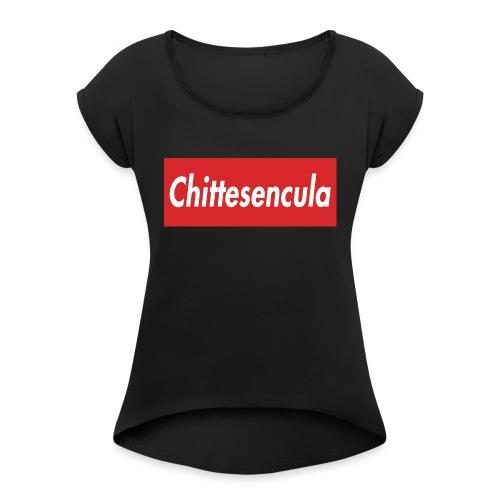 chittese - Maglietta da donna con risvolti