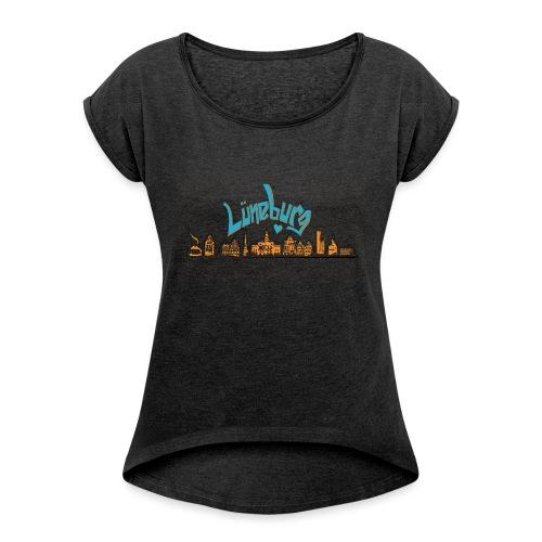Lüneburg Design by deisoldphotodesign - Frauen T-Shirt mit gerollten Ärmeln