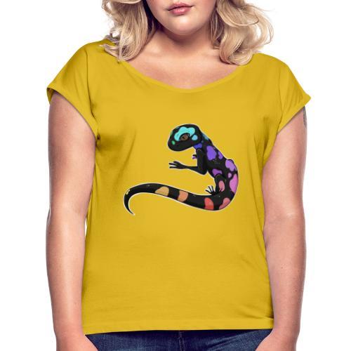 Salamandre Arc en ciel - T-shirt à manches retroussées Femme