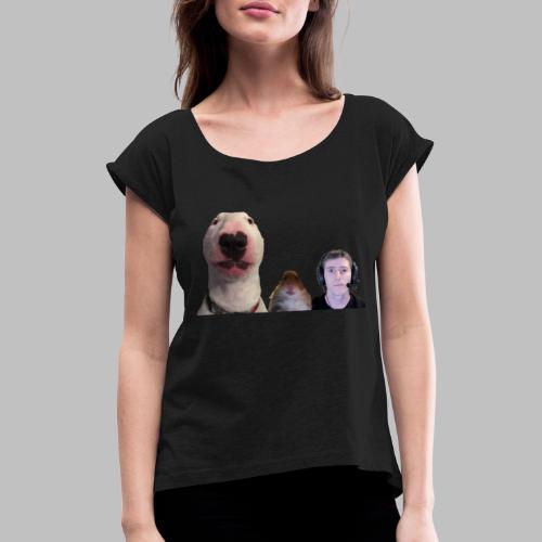 3 Amigos Walter, Hamster and Ltt. - Vrouwen T-shirt met opgerolde mouwen