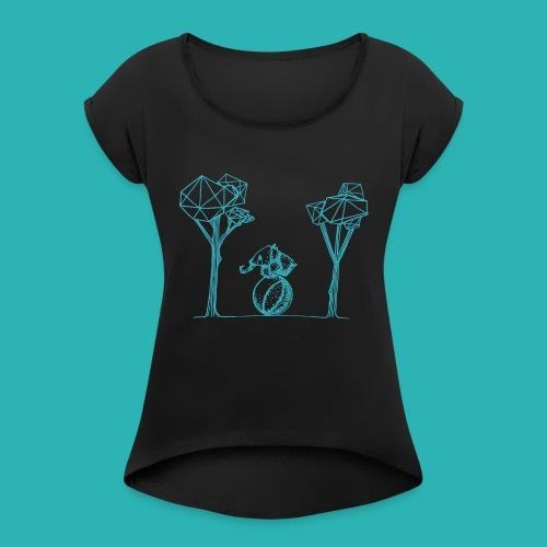 Rotolare_o_capitombolare_lightblu-png - Maglietta da donna con risvolti