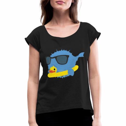 NEO-FUGU Spring summer duck - T-shirt à manches retroussées Femme