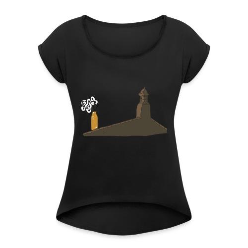 Habemus Beer Hoodies - Frauen T-Shirt mit gerollten Ärmeln