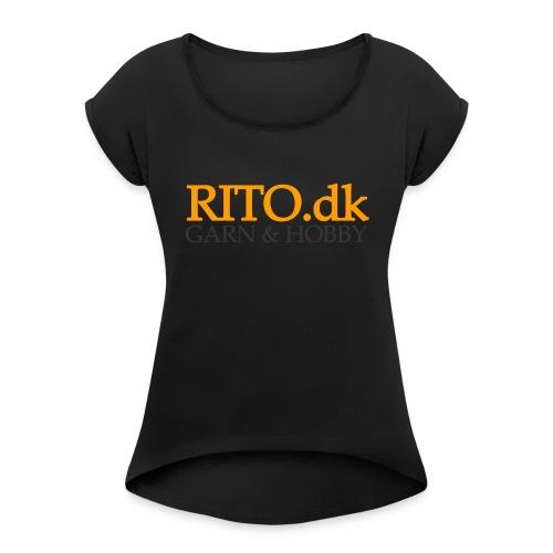 Rito Logo - Dame T-shirt med rulleærmer