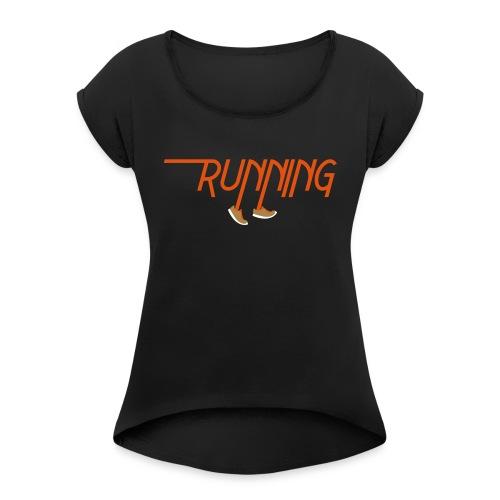 Running - Maglietta da donna con risvolti