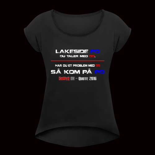 DD på PD Kollektion 2016 - Dame T-shirt med rulleærmer