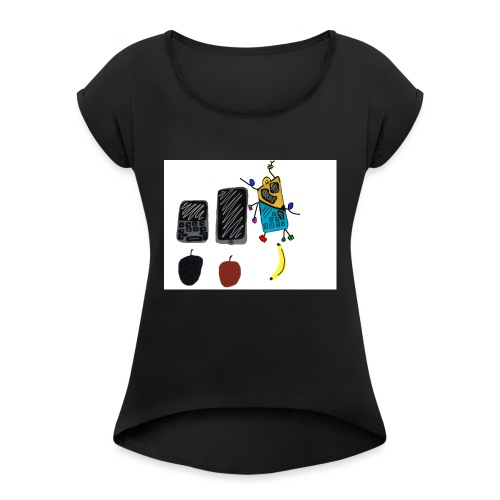 IMG_1019 - Women's T-Shirt with rolled up sleeves