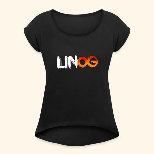 LinOG Logo - T-shirt med upprullade ärmar dam