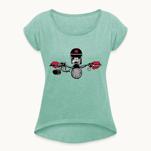 Motard Micky on the Road - T-shirt à manches retroussées Femme