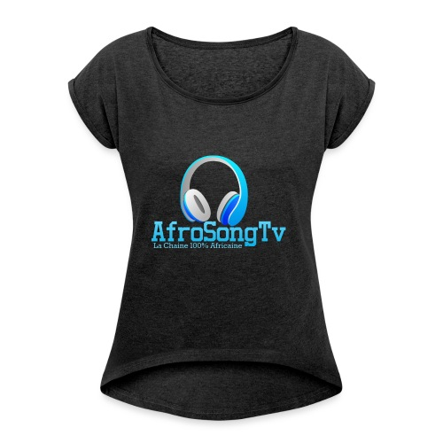 logo - Camiseta con manga enrollada mujer
