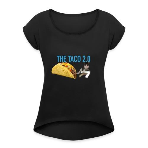 IMG 2232 - T-shirt med upprullade ärmar dam