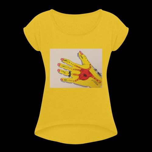 9D8D600F D04D 4BA7 B0EE 60442C72919B - Dame T-shirt med rulleærmer