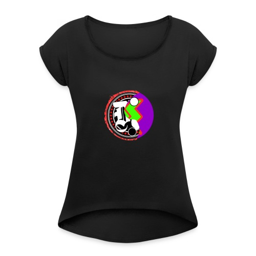 Dew n' Pringles - Women's T-Shirt with rolled up sleeves