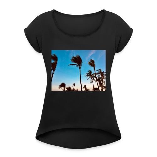 Varadero Summer - Frauen T-Shirt mit gerollten Ärmeln