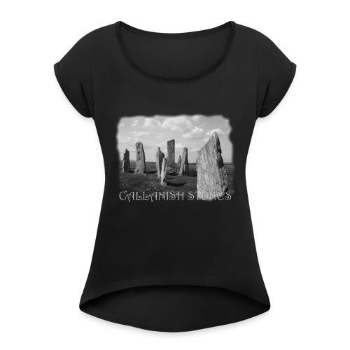 CALLANISH STONES #1 - Frauen T-Shirt mit gerollten Ärmeln