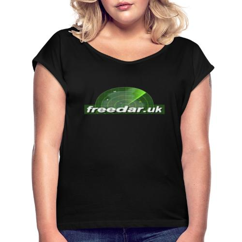 Freedar - Women's T-Shirt with rolled up sleeves