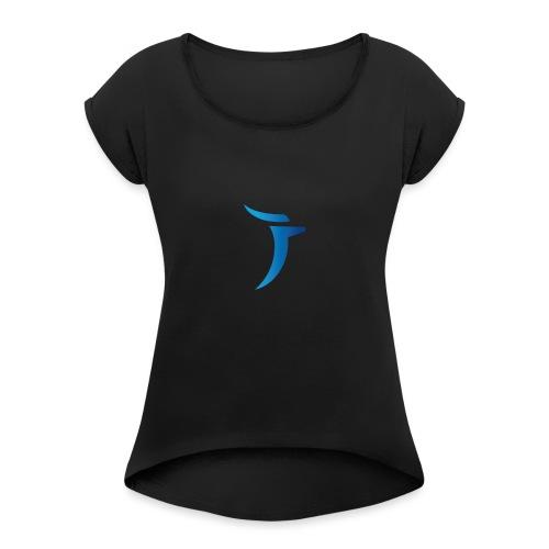 Eljacinto - Camiseta con manga enrollada mujer
