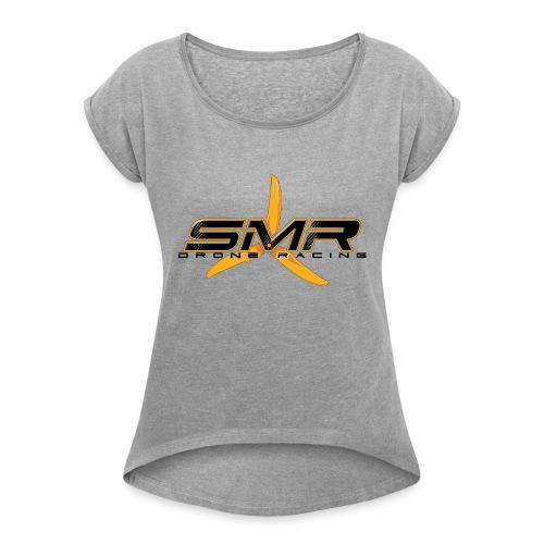 SMR WHITE - T-shirt à manches retroussées Femme