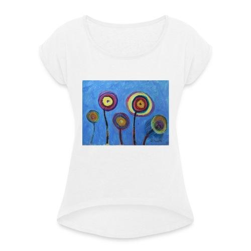 Blue flower - Maglietta da donna con risvolti