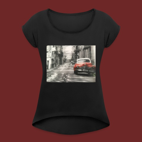Old City - Frauen T-Shirt mit gerollten Ärmeln