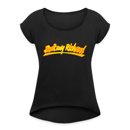 Suck my Richard - T-skjorte med rulleermer for kvinner