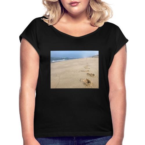 Endless Beach - Frauen T-Shirt mit gerollten Ärmeln