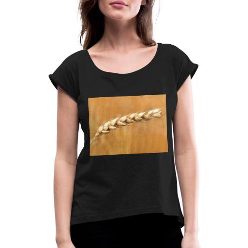 wheat - Frauen T-Shirt mit gerollten Ärmeln