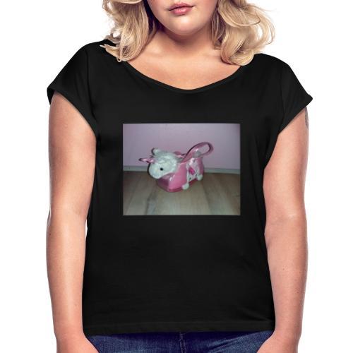 15739865504867245434081591691093 - Frauen T-Shirt mit gerollten Ärmeln
