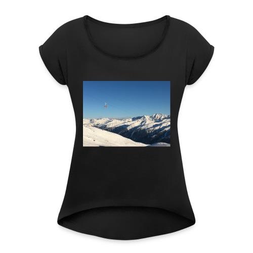 bergen - Vrouwen T-shirt met opgerolde mouwen