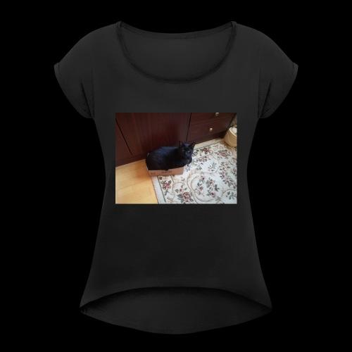 IMG 20170808 WA0021 - Frauen T-Shirt mit gerollten Ärmeln