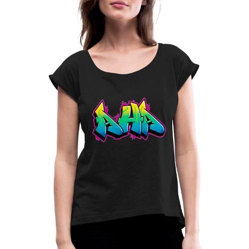 Aha - Frauen T-Shirt mit gerollten Ärmeln