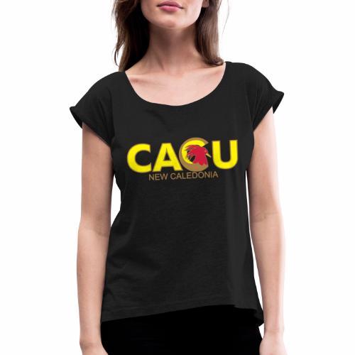 Cagu New Caldeonia - T-shirt à manches retroussées Femme