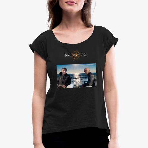 Niedrig & Guth - Frauen T-Shirt mit gerollten Ärmeln