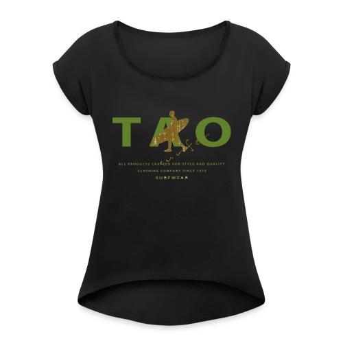 taosurfer_army - Frauen T-Shirt mit gerollten Ärmeln