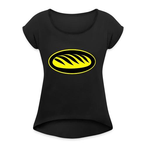 Icona del pane per le persone che amano il pane - Maglietta da donna con risvolti