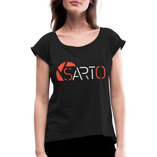 Sarto - Frauen T-Shirt mit gerollten Ärmeln