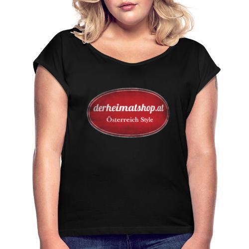 derheimatshop.at Leiberl - Frauen T-Shirt mit gerollten Ärmeln