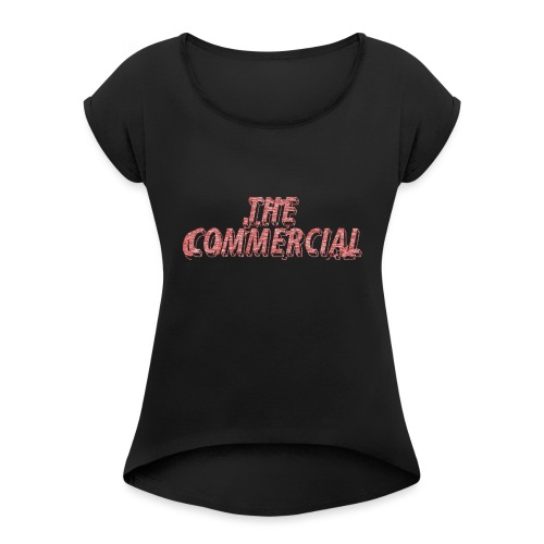 The Commercial #2 (Salmon Long Strokes) - Women's T-Shirt with rolled up sleeves