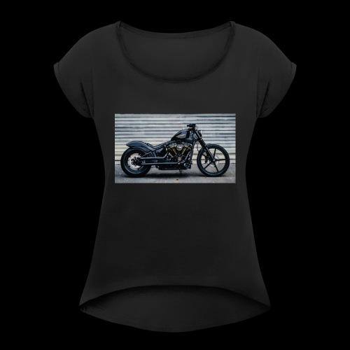 90FA00AB D227 47D2 BBE2 FFEAA0D9E087 - Frauen T-Shirt mit gerollten Ärmeln